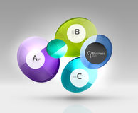 Vector circle infographics Stock Photography