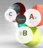 Vector circle infographics Royalty Free Stock Photography