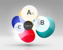 Vector circle infographics Royalty Free Stock Image