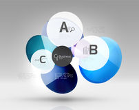 Vector circle infographics. Vector template background for print workflow layout, diagram, number options or web design banner Stock Photography