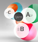 Vector circle infographics. Vector template background for print workflow layout, diagram, number options or web design banner Royalty Free Stock Images