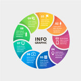 Vector circle infographics. Template for diagram vector illustration