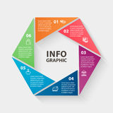 Vector circle infographics. Template for diagram Stock Photo