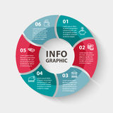 Vector circle infographics. Template for diagram Royalty Free Stock Images