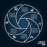 Vector circle infographics. Template for diagram. Royalty Free Stock Photo