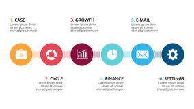 Vector circle metaball timeline infographic, cycle diagram, graph, presentation chart. Business concept with 5 options. Circle arrows diagram for graph vector illustration
