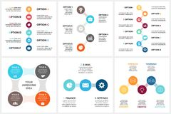 Vector circle metaball timeline infographic, cycle diagram, triangle graph, presentation chart. Business concept with 3. Circle arrows diagram for graph Stock Image