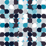 Vector circle mosaic seamless pattern background Stock Photo