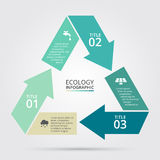 Vector circle nature infographic. Royalty Free Stock Image