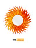 Vector circle orange flower vector card. abstract Stock Image