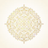 Vector circle pattern in Eastern style. Stock Photo