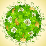 Vector Circle Pattern of Patrick`s Day Stock Photo