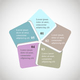Vector circle pentagon infographic. Royalty Free Stock Image
