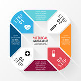 Vector circle plus sign infographic. Template for. Layout for your options. Can be used for info graphic Royalty Free Stock Photo