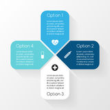 Vector circle plus sign infographic. Template for. Layout for your options. Can be used for info graphic Stock Photography