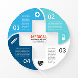 Vector circle plus sign infographic. Template for. Layout for your options. Can be used for info graphic Stock Photo