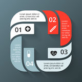 Vector circle plus sign infographic. Template for Royalty Free Stock Images