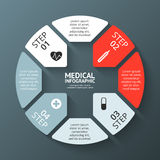 Vector circle plus sign infographic. Template for. Layout for your options. Can be used for info graphic Royalty Free Stock Photography