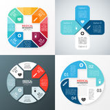 Vector circle plus sign infographic. Template for. Layout for your options. Can be used for info graphic Royalty Free Stock Image