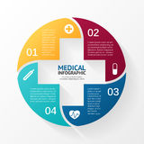 Vector circle plus sign infographic. Template for. Layout for your options. Can be used for info graphic Stock Photos