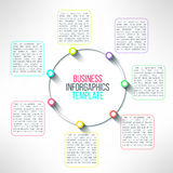 Vector circle process infographics template Royalty Free Stock Image