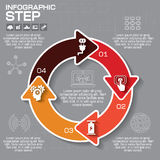 Vector circle puzzle infographic. Template for diagram, graph, p. Resentation and chart. Business concept with 4 cyclic options, parts, steps or processes Stock Image