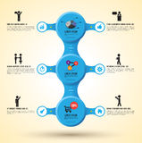 Vector circle relationship business concepts with  Stock Photo