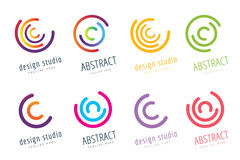 Vector circle ring logo design. Abstract flow icon Royalty Free Stock Image