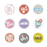 Vector Circle Sale Sticker Set Stock Images