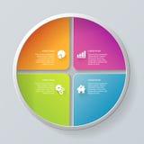 Vector circle segment infographics mockup template background Stock Photo