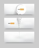 Vector circle set banner . brochure template Royalty Free Stock Image