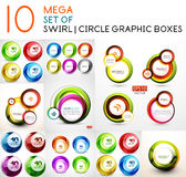 Vector circle swirl banners design collection Stock Photos