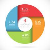 Vector circle template for business infographics Stock Image
