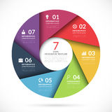 Vector circle template for business infographics Stock Photography