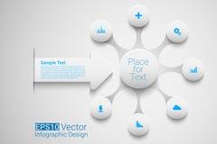 Vector circle timeline Stock Photos