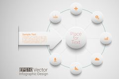 Vector circle timeline Stock Photo