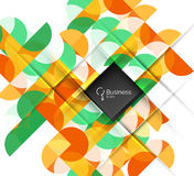 Vector circle and triangle abstract background Stock Images
