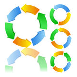 Vector Circles with arrows. On white background royalty free illustration