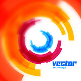 Vector circles card with blurred edge Royalty Free Stock Photography