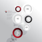 Vector circles elements infographics concept background Stock Photo