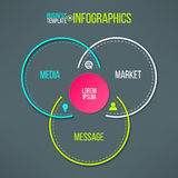 Vector circles infographics template. Message Royalty Free Stock Image