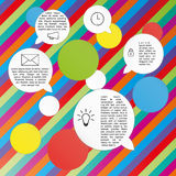 Vector circles and speak bubbles infographic template Royalty Free Stock Images
