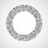 Vector circuit board circle, digital technologies abstraction. B Stock Images