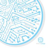 Vector circuit board, digital technologies abstraction. Computer. Microprocessor scheme, futuristic design. Microprocessor scheme abstract background royalty free illustration