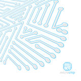 Vector circuit board, digital technologies abstraction.   Stock Photos
