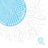 Vector circuit board with electronic components of technology de. Vice. Computer motherboard cybernetic abstraction. Electronic microprocessor stock illustration