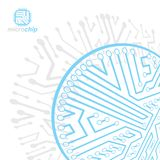 Vector circuit board with electronic components of technology de. Vice. Computer motherboard cybernetic abstraction. Electronic microprocessor vector illustration