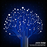 Vector circuit board electronic tree Stock Photography