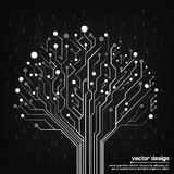 Vector circuit board electronic tree Royalty Free Stock Photo