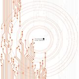 Vector circuit board illustration. Abstract technology. EPS 10 Royalty Free Stock Photography